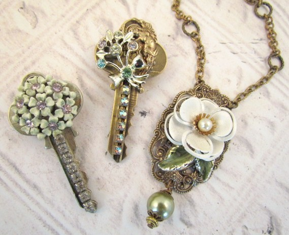 Repurposed Keys Jewelry Jewelrysight