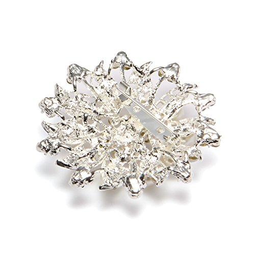 Valdler Fashion Jewelry Imitation Pearls Floral Ivory